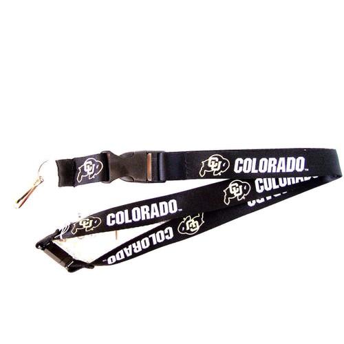 Colorado Buffaloes Lanyard Keychain Id Ticket Clip - Black