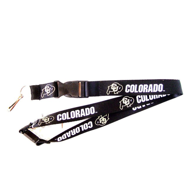 Colorado Buffaloes Lanyard Keychain Id Ticket Clip - Black