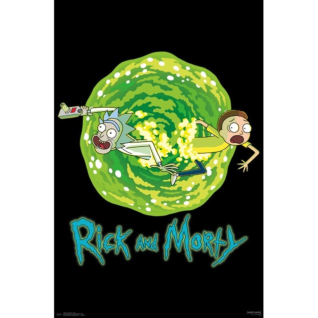 Rick and Morty Portal Wall Poster