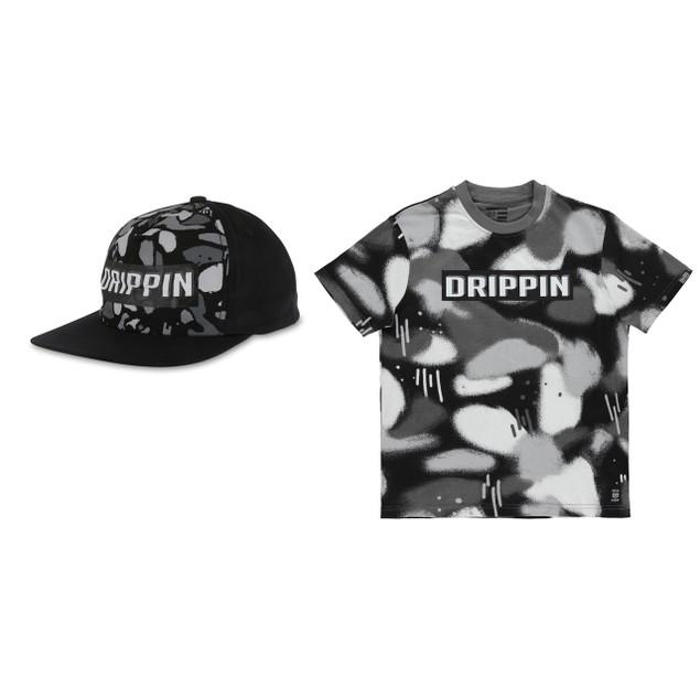 Phat Farm Boys' Fashion T-shirts All Over Print Style T-Shirt and Cap Set