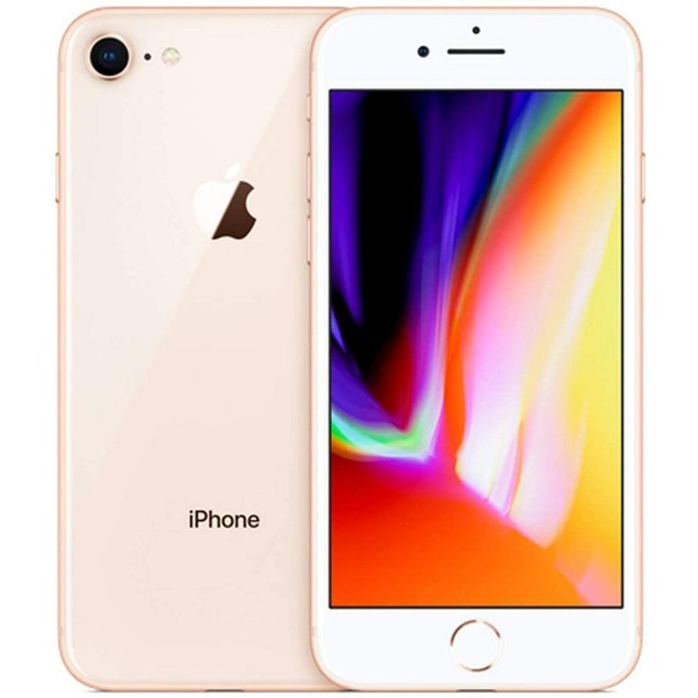 Apple iPhone 8 Plus, AT&T, Gold, 128 GB, 4.7 in Screen