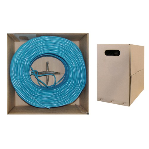Bulk Cat5e Blue Ethernet Cable, Stranded, UTP  Pullbox