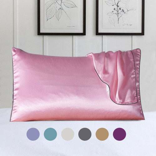 100% Silk Queen Size Pillow Cover With Trim