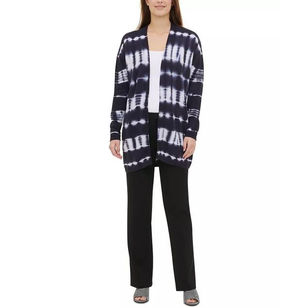 Calvin Klein Women's Cotton Tie Dye Cardigan Blue Size Large