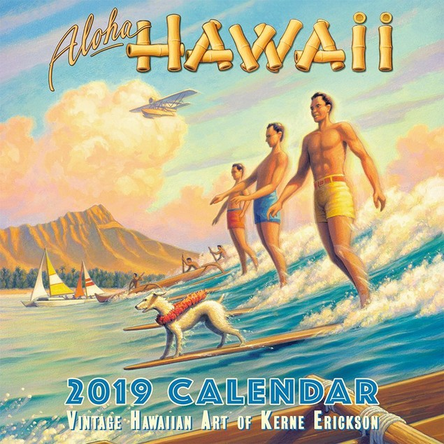 Aloha Hawaii Erickson Art Wall Calendar, Hawaii by Calendars