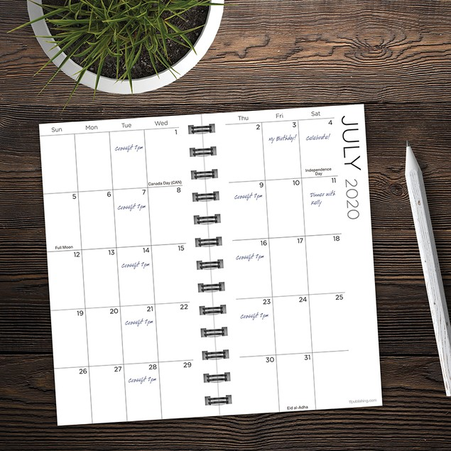 July 2020 - June 2021 Small Daily Weekly Monthly Planners