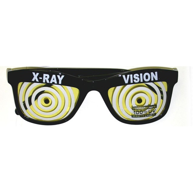 Yellow X-Ray Vision Glasses X Ray Specs Goggles Hypnotize Wayfarer Adult