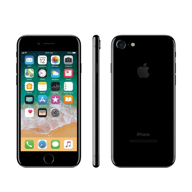 Apple iPhone 7, AT&T, Jet Black, 128 GB, 4.7 in Screen