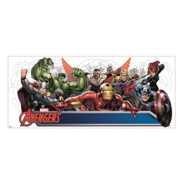 Roommates Decor Avengers Assemble Headboard Giant Wall Decal with Alphabet