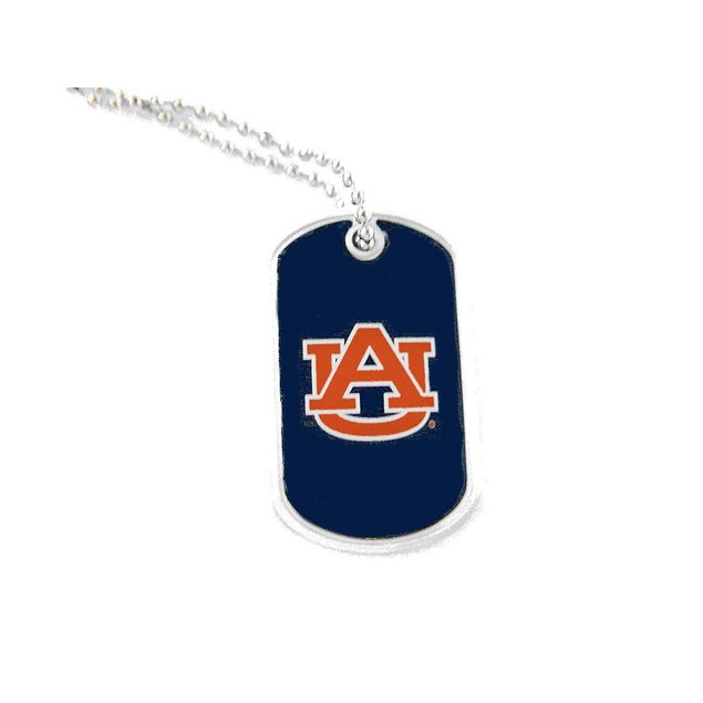 Auburn Tigers Domed Dog Tag Necklace Charm - NCAA