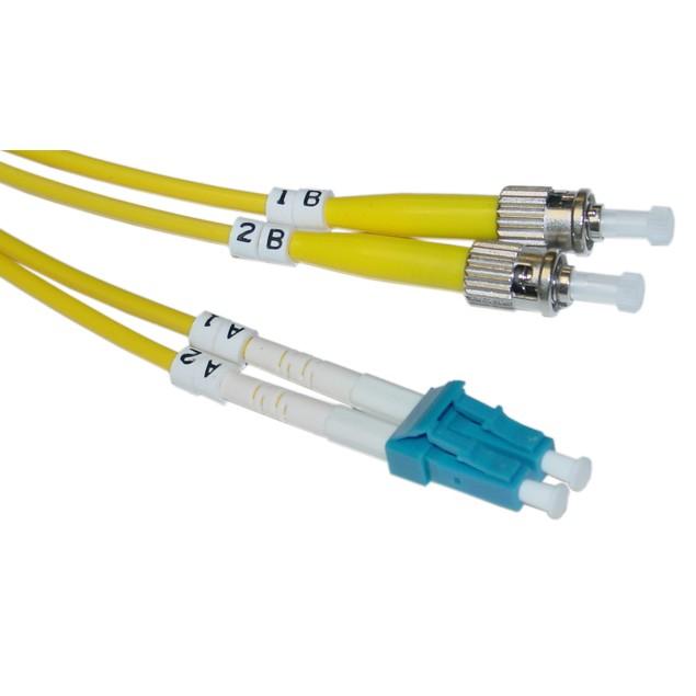 Fiber Optic Cable, LC / ST, Singlemode, Duplex, 9/125, 1 meter (3.3 foot)