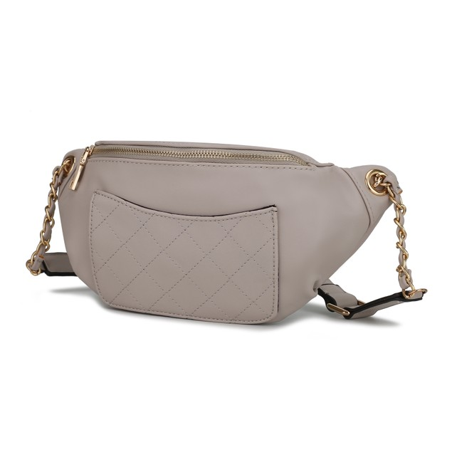 MKF Quilted Chain Link Belt Waist Bag by Mia K