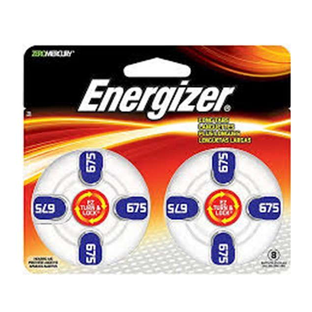 Energizer Size 675 MF Zinc Air Hearing Aid Batteries (48 pack)