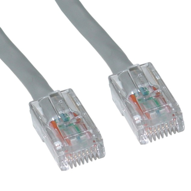 Cat6 Gray Ethernet Patch Cable, Bootless, 25 foot