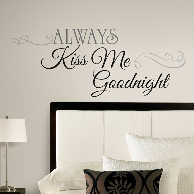 Roommates Baby Room Wall Decor Always Kiss Me Goodnight Quote Wall Decals