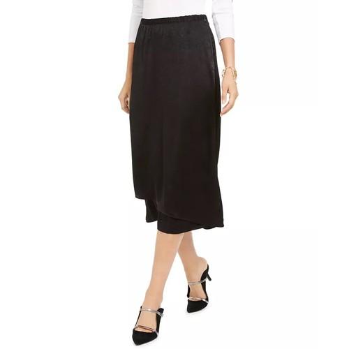 Alfani Women's Faux-Wrap Skirt Black Size 16