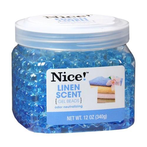Nice! Linen Scent Naturally Eliminate Odor Neutralizing Gel Beads, 12 Oz