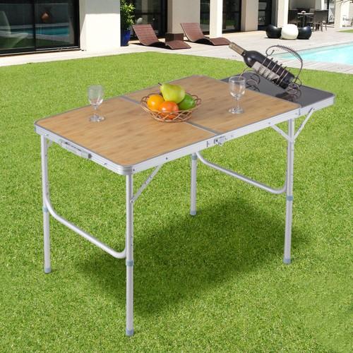Costway Aluminum Folding Picnic Camping Table Lightweight Indoor Outdoor Ga