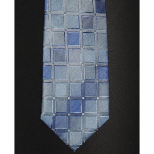 Kenneth Cole Reaction Men's Classic Geometric Tie Blue Size Regular