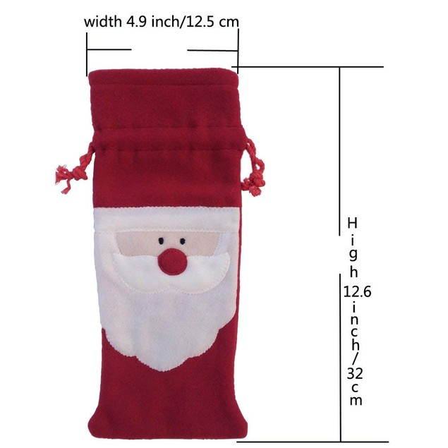 Set of 2 Winebottle holder / Gift bag