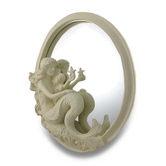 Beauty Of The Sea Sculptural Mermaid Wall Mounted Wall Mounted Mirrors