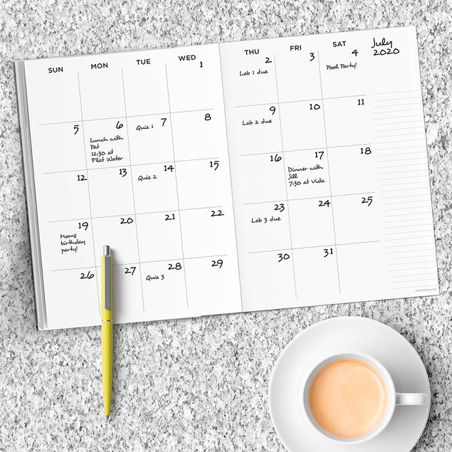 Undated Monthly Appointment and Meal Planners