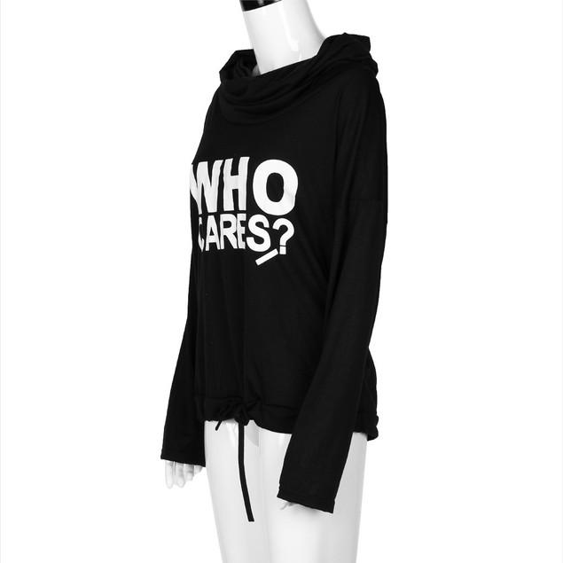 Women Letter Print Long Sleeve Casual Sweatshirt T-Shirt Tops Blouse