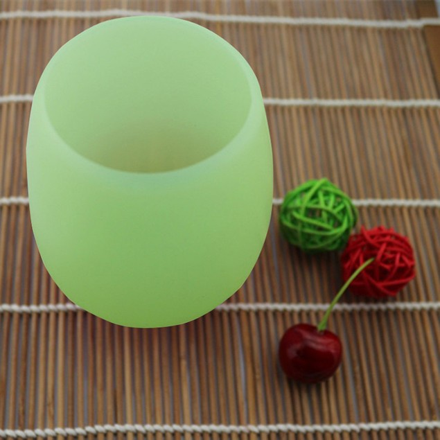 Silicone Wine Glass Unbreakable Stemless Rubber Beer Mug Outdoor Cup Glass