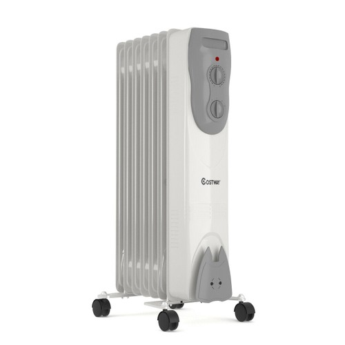 Costway 1500W Portable Oil-Filled Radiator Heater Adjustable Thermostat