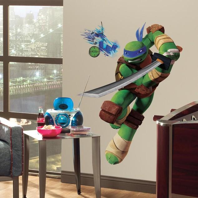 Roommates Decor Teenage Mutant Ninja Turtles Leonardo Giant Wall Decal