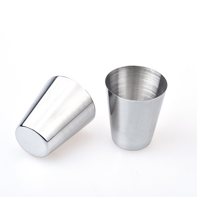 6pcs Stainless Steel Cup Drinking Coffee Tea Tumbler Camping Mug