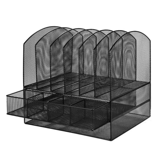 Mesh File Organizer, Iron Desktop Organizer Mesh Collection Keep Tidy
