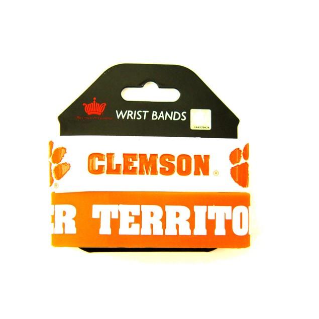 NCAA Clemson Tigers Rubber Wrist Bands Bracelets Set of 2