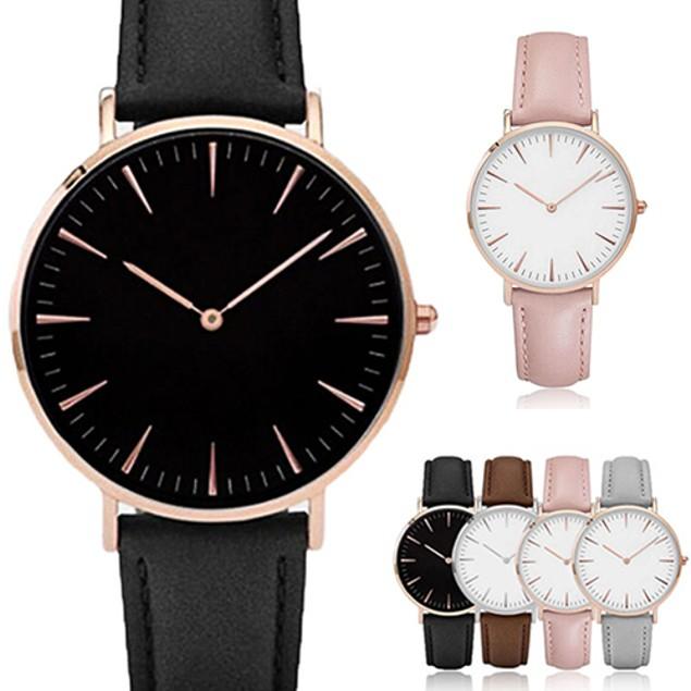 Unisex Casual Quartz Analog Faux Leather Band Wristwatch