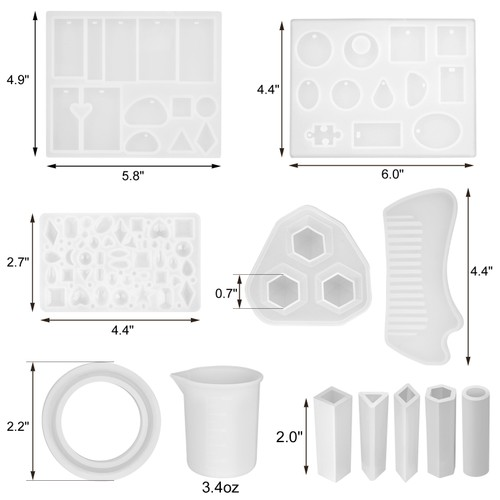 155PCS SILICONE CASTING MOLDS AND TOOLS SET DECORATION FOR NAIL ART
