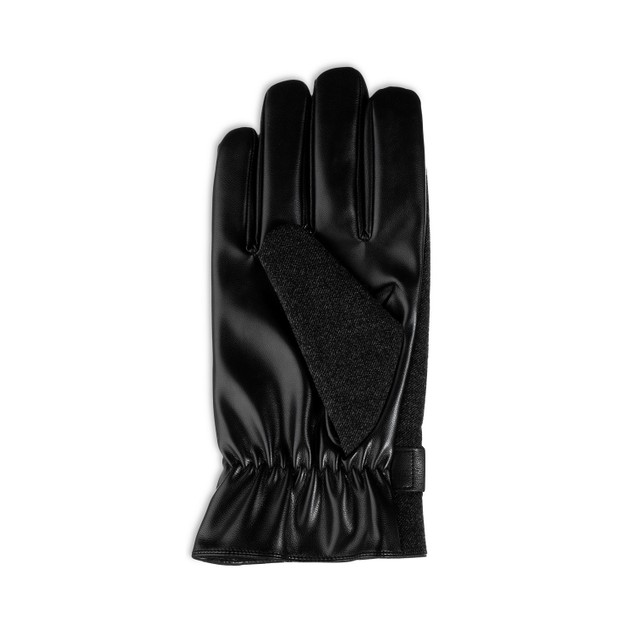 Isotoner Signature Men's Faux-Wool Smartouch Gloves Black Size Large