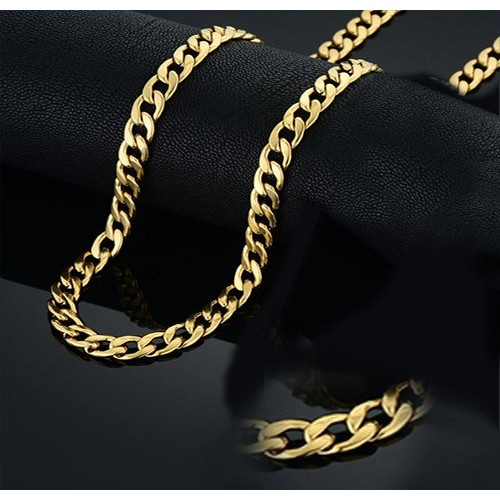 14K Cuban Gold Plated Layer Chain