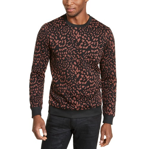 Inc Men's Animal Print Pullover Brown Size Small