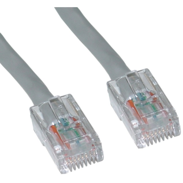Cat6 Gray Ethernet Patch Cable, Bootless, 2 foot