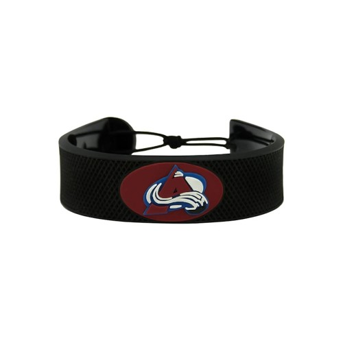 Colorado Avalanche Classic NHL Gamewear Leather Hockey Bracelet