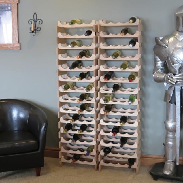 9 Bottle Dakota Wine Rack with Display Top Medium Oak