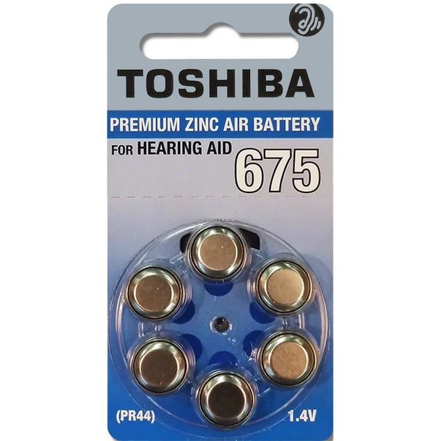 Toshiba Size 675 Zinc Air Hearing Aid Batteries (60 pack)