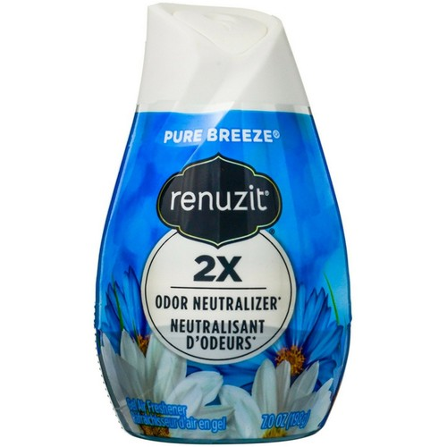 Renuzit Gel Air Freshener and Odor Neutralizer, Pure Breeze, 7 Oz.