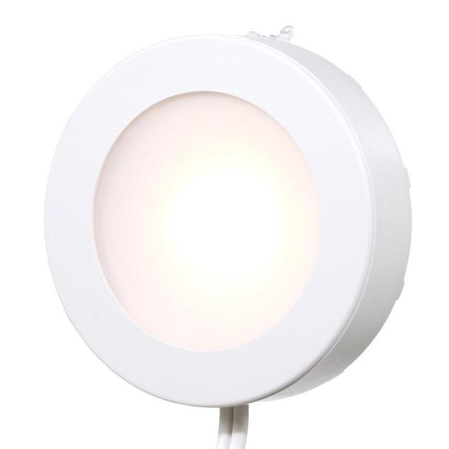 Commercial Electric 5-Light LED Puck Light Kit, 120 Volt, White