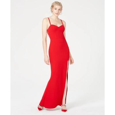 City Studios Juniors' Scuba Gown Red Size 5