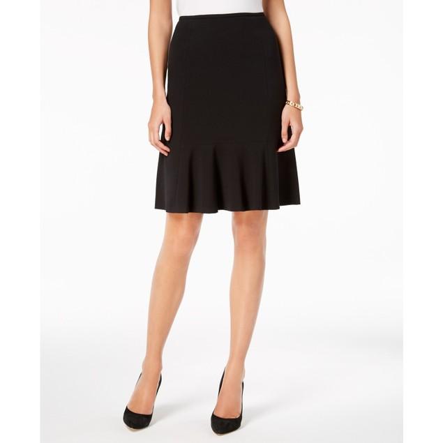Nine West Women's Flare-Hem Pencil Skirt Black Size 8