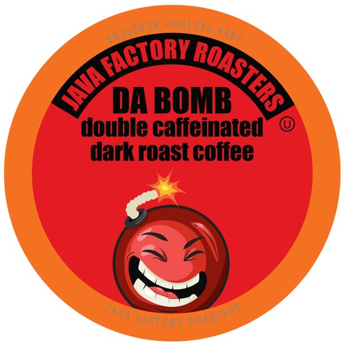 Java Factory Coffee Pods, Da Bomb Extra Bold Double CAFFEINE, 80 count