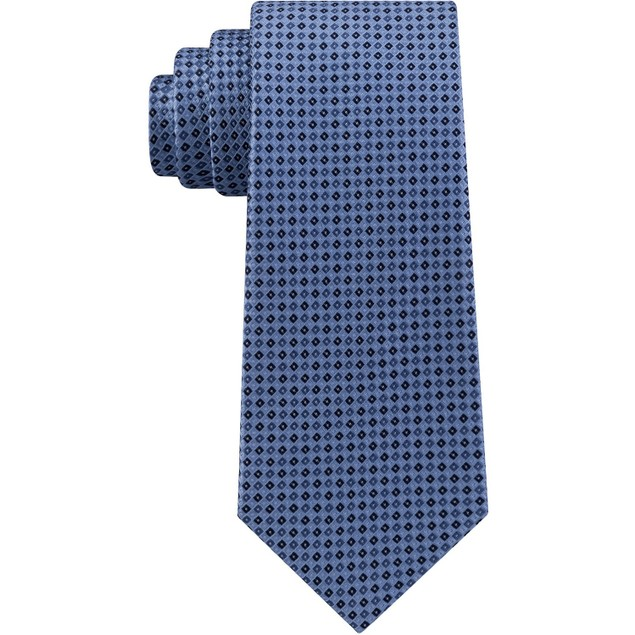 Tommy Hilfiger Men's Core Micro Silk Tie Blue Size Regular
