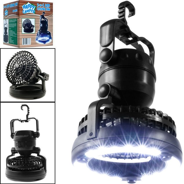 Portable LED Camping Lantern with Ceiling Fan Hurricane Emergency Kit