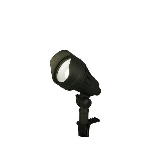 Hampton Bay 9.8-W Adjustable Light Color LED Landscape Flood Light, Black